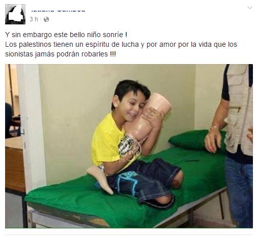 Niño Palestino que en realidad es Sirio